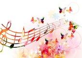 Romantique portée de musique