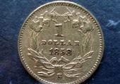 1 dollar USA, 1858 S (pile)
