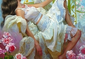 Rêve dans un lit fleuri