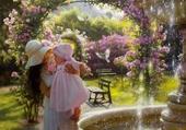 L'enfant au jardin