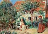 scène de jardin - Renoir