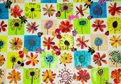 patchwork de fleurs