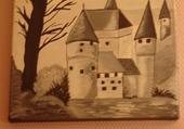 château-fort en Auvergne huile hélène