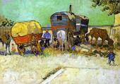 Les Roulottes par Van Gogh, 1888