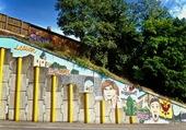 Décoration urbaine à Roussillon