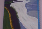 falaise en Normandie huile hélène
