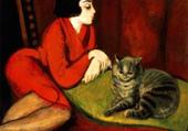 femme au chat-robert bereny