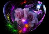 Puzzle Coeur de roses