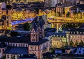 Puzzle Liège vue de nuit