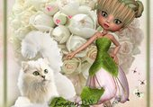 petite fée clochette et son chat