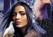 amérindienne aux oiseaux