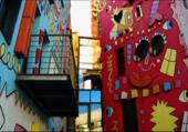 Puzzle rue colorée