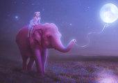 La petite fille et l'éléphant