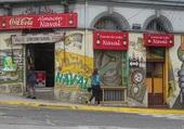 dessin mural à Valparaiso
