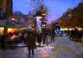 Grands boulevards la nuit