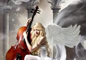 l ange au violoncelle