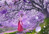 Sous les ceriser en fleurs