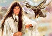 indienne et aigle