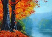 automne sur la berge