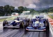 course de F1 sous la pluie