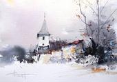 Puzzle Eglise sous la neige