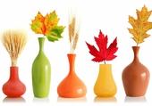 Vases de feuilles