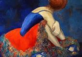 danseuse en bleu