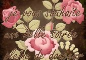 bonne soirée avec des roses