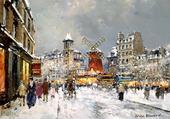 Puzzle Moulin rouge à Pigalle sous la neige