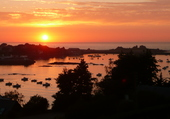 coucher de soleil sur le Diben