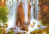 Puzzle cascade de cheval