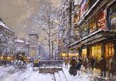 Puzzle Bds et Porte St-Denis sous la neige