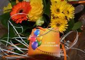 Bon anniversaire en fleur