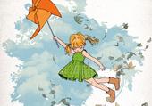 fille au vent