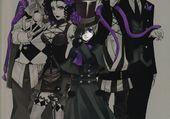 Ciel, Sebastian, Snake, Beast et Joker