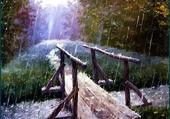 Puzzle Il pleut sur le petit pont