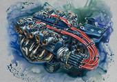 Puzzle moteur V12