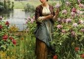 julia parmi les roses par ridgway