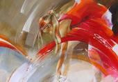 danseuse en rouge