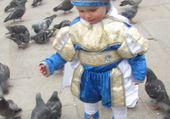 petit garçon et les pigeons venise