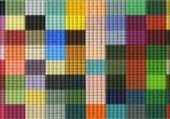 carres en couleurs sur tissu