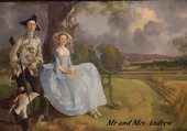 Mr and Mrs Andrew par Gainsborough