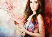 femme au papillon wendy NG