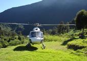 Hélicoptère île de la Réunion  à Mafate