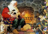 Puzzle Le père Noël se prépare