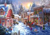 Puzzle Village à Noël