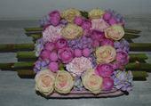 Joli coussin de fleurs