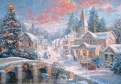 Village sous la neige