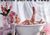 je me prélasse dans mon bain