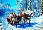 Puzzle Promenade d'hiver